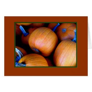 「秋カボチャ」空白のな挨拶状 カード