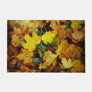 秋テーマのドア・マット-金葉 ドアマット