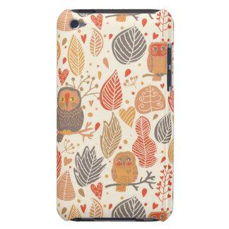 秋パターン。 森林のフクロウ Case-Mate iPod TOUCH ケース