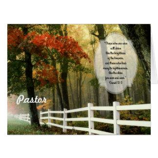 秋場面すべてからのカスタムな牧師の感謝 カード
