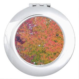 秋季のコンパクトの鏡