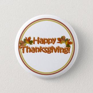 秋季の最も最高ので幸せな感謝祭の文字 5.7CM 丸型バッジ
