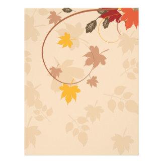 秋季の背景 レターヘッド