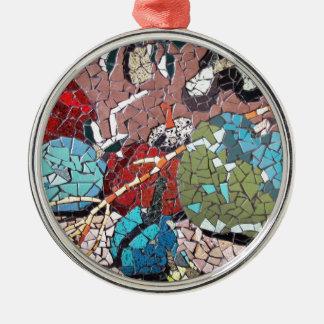 """""""秋歓喜""""の、C。- M。Buzametによるモザイクアートワーク メタルオーナメント"""