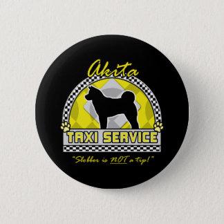 秋田のタクシーサービス 5.7CM 丸型バッジ