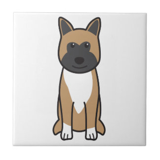 秋田犬の漫画 タイル