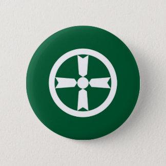 秋田都市旗の秋田県の日本記号 5.7CM 丸型バッジ
