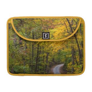 秋色と並ぶ小さい砂利の道 MacBook PROスリーブ