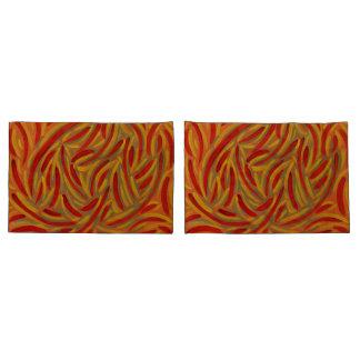 秋色のデザインの枕カバー 枕カバー