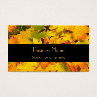 秋色の秋のかえでの葉 名刺