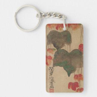 秋蔦、乾山の秋のキヅタ、Kenzanの日本芸術 キーホルダー