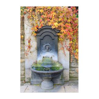 秋、ハンガリーの水飲み場 アクリルウォールアート