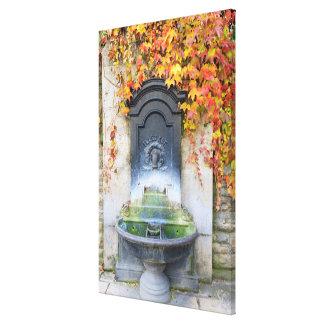 秋、ハンガリーの水飲み場 キャンバスプリント