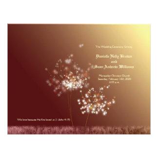 秋|優雅|タンポポ|結婚|Bi|折目|プログラム フルカラーチラシ広告