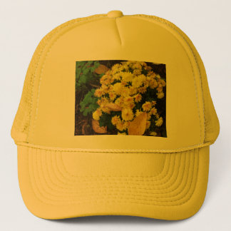 秋-写真の黄色いミイラ キャップ