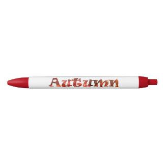 秋 黒ボールペン
