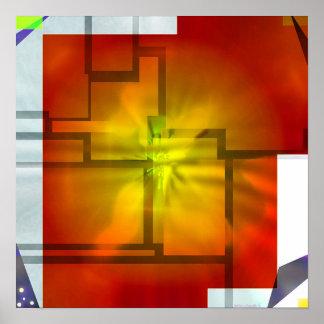 秋#4 (prisma)の色 ポスター