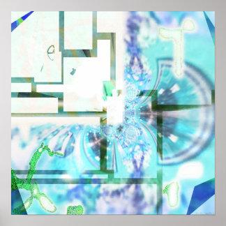 秋#4b (春の視野)の色 ポスター