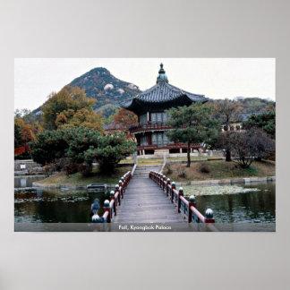 秋、Kyongbok宮殿 ポスター