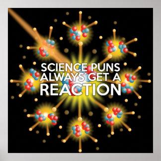 科学のしゃれは反作用を常に得ます ポスター