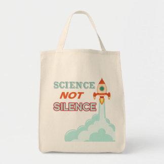 科学のない沈黙のロケットの船のトート トートバッグ