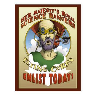 科学のレーンジャーの募集 ポストカード