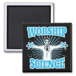 科学の崇拝のおもしろいなギーク及び無神論者のアンチ宗教 マグネット