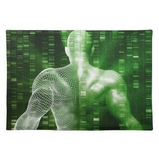 科学の抽象芸術としてDNA配列するか、または順序 ランチョンマット