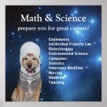 科学の数学のかわいい宇宙実験室の星 ポスター