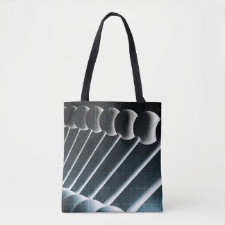 科学の概念としてDNAの螺旋形の抽象芸術の背景 トートバッグ