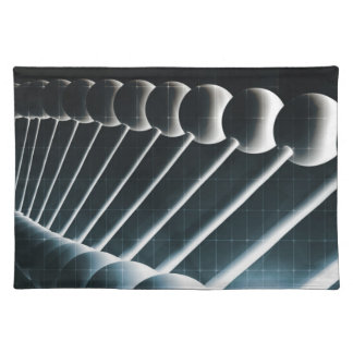 科学の概念としてDNAの螺旋形の抽象芸術の背景 ランチョンマット