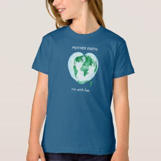 科学の3月の女の子のTシャツ-大地 Tシャツ