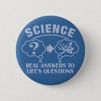 科学はカスタムなボタンに答えます 5.7CM 丸型バッジ