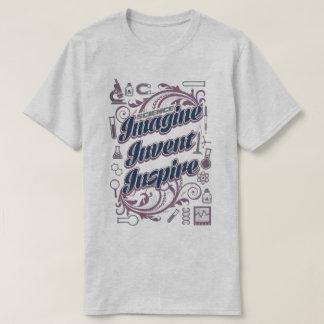 科学は発明しますインスパイア科学者の実験室のティーを想像します Tシャツ