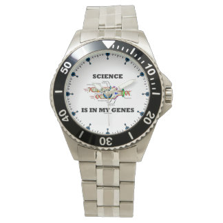 科学は私の遺伝子DNAの写しにあります 腕時計