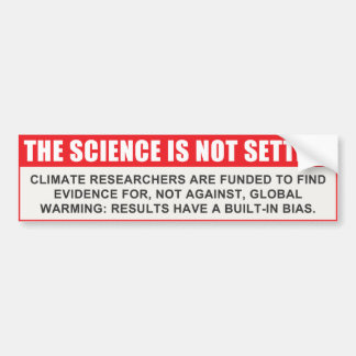 科学は解決しません バンパーステッカー