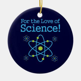 科学原子の愛のため セラミックオーナメント
