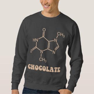 科学的なチョコレート要素のテオブロミンの分子 スウェットシャツ