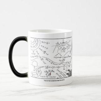 科学者としてマグは世界の~を見ます[右利きの] マジックマグカップ