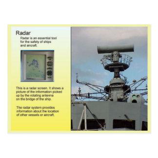 科学、コミュニケーション、レーダー ポストカード