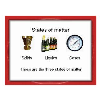 科学、化学、問題の州 ポストカード