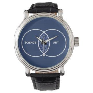 科学/芸術のVennの図表 腕時計