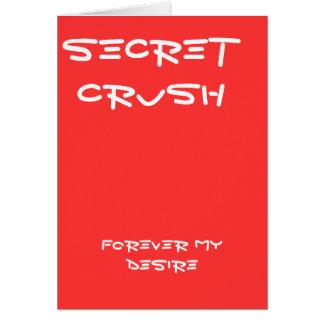 秘密のクラッシュの挨拶状 カード