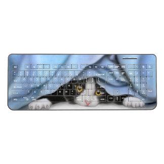 秘密のタキシードの子猫猫の無線電信のキーボード ワイヤレスキーボード