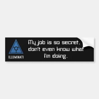 秘密の世界のIlluminatiのバンパーステッカー バンパーステッカー