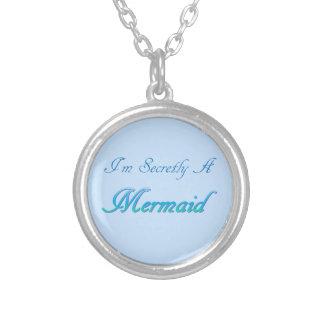 秘密の人魚の円形のネックレス シルバープレートネックレス