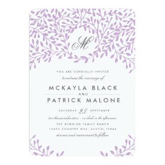 秘密の庭園の結婚式の招待-蘭 カード