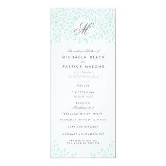秘密の庭園の結婚式プログラム-ミント 10.2 X 23.5 インビテーションカード