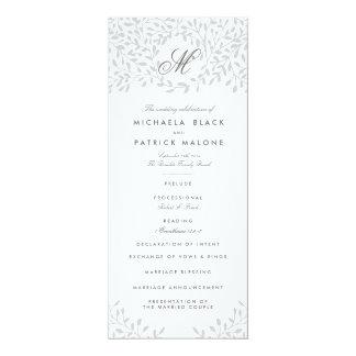 秘密の庭園の結婚式プログラム-灰色 カード