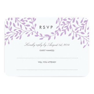 秘密の庭園の結婚式RSVP -蘭 カード